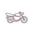motorbike line icon vector image vector image