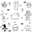 Mummy pumpkins ornament halloween in doodle vector image vector image