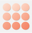 nine orange circles button circle banner vector image