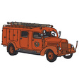 Old firetruck vector image vector image