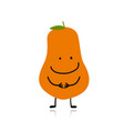papaya cute character for your design vector image vector image
