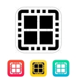 Quad Core CPU icon vector image vector image