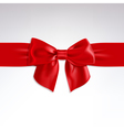 Red Bow of Satin Ribbon vector image vector image