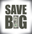 Save Big One vector image vector image