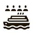 sea crossing liner people icon glyph vector image vector image