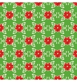 Seamless Christmas Pattern with Poinsettia vector image vector image