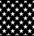 seamless pattern of white five-pointed stars on vector image