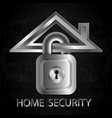 security home symbol vector image vector image