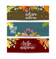 set autumn sale banners design discounts and vector image vector image
