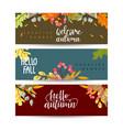 set autumn sale banners design discounts vector image