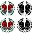 set boxer gloves stencils vector image vector image