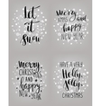 Set of hand calligraphic winter holidays quotes vector image vector image