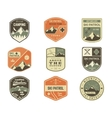 Set of Retro style Ski Club Patrol Labels vector image vector image