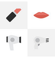 set of simple elegance icons vector image vector image