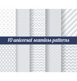 Set of ten subtle seamless patterns vector image vector image