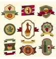 Set of wine labels badges and elements vector image