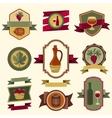 set wine labels badges and elements vector image