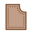 sewing material icon outline vector image