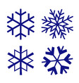 snowflake christmas winter isolated icon vector image vector image