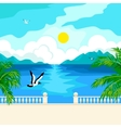 South idyllic seascape vector image vector image