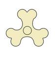 spinner bones fidget finger toy halloween anti vector image vector image