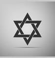 star of david icon isolated on grey background vector image vector image