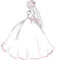 Symbolic bride in wedding dress vector image vector image
