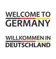 two simple symbols welcome to germany vector image