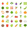 vegetable icon set flat style vector image vector image
