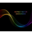 Wave abstract images color design Abstract vector image