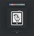 web shopping icon vector image vector image