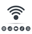 wifi icon wireless internet sign vector image vector image