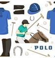 Polo objects Sport uniform pattern vector image