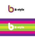 modern abstract logo B letter logotype vector image