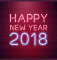 2017 new year shining neon banner