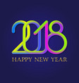 2018 happy new year golden and fluid colors vector image vector image