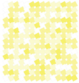 abstract yellow squares vector image vector image