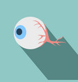 anatomy eye icon flat related icon with long vector image vector image