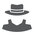 anonymity glyph icon detective and private vector image vector image