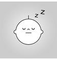 Baby sleep icon vector image