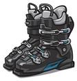 black ski boots vector image vector image