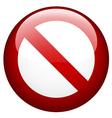 blank ban vector image vector image