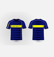 Blue white and yellow layout football sport