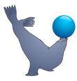 Blueball play seal vector image