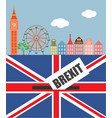 brexit in the uk vector image vector image