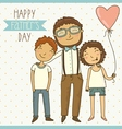 Bright card for fathers day vector image vector image