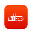 chainsaw icon digital red vector image vector image