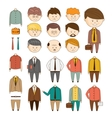 Create your ideal Businessman set of vector image