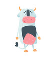 cute cow in flat style isolated on white vector image vector image