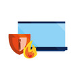 cybersecurity data protection vector image vector image